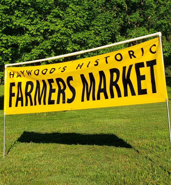 Haywood Historic Farmers Market sign
